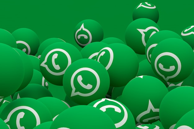 Whatsapp emoji 3d render