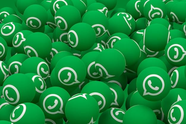 Whatsapp emoji 3d визуализации
