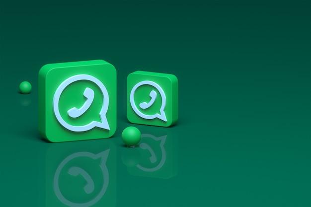 Whatsapp 아이콘 3d 렌더링