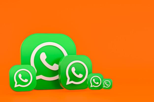 Whatsapp логотип 3d значок рендеринга фона