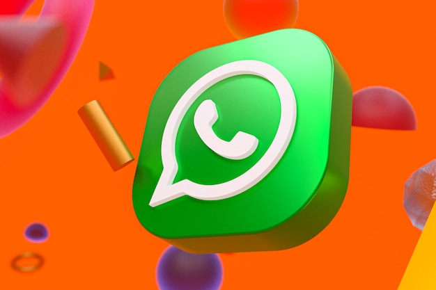 Whatsapp logo on abstract geometry background