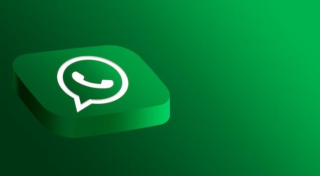 Whatsapp логотип минимальный дизайн 3d Premium Фотографии