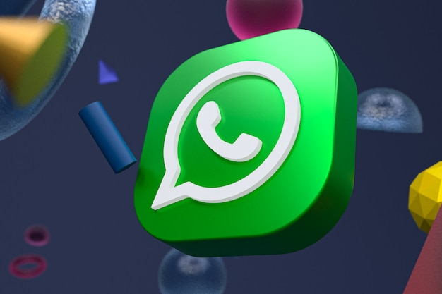 Логотип whatsapp на абстрактной геометрии