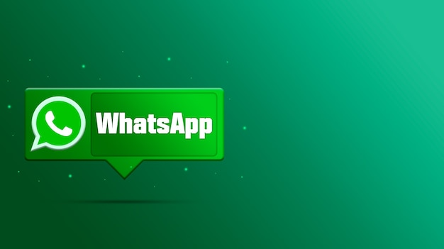 Логотип whatsapp на речи пузырь 3d