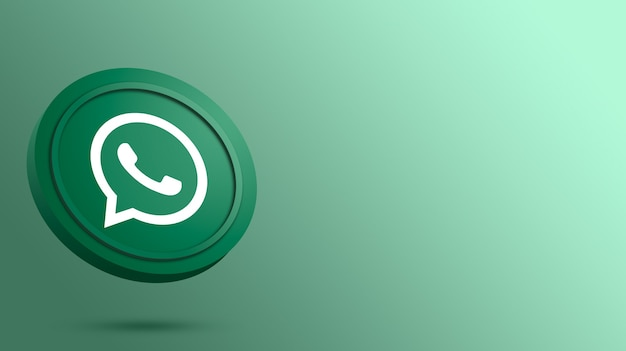 Логотип whatsapp на рендере круглой кнопки