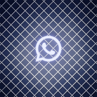 Whatsapp sign neon effect render