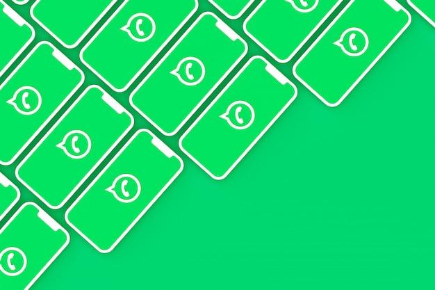 Символ whatsapp на экране смартфона или мобильного 3d визуализации