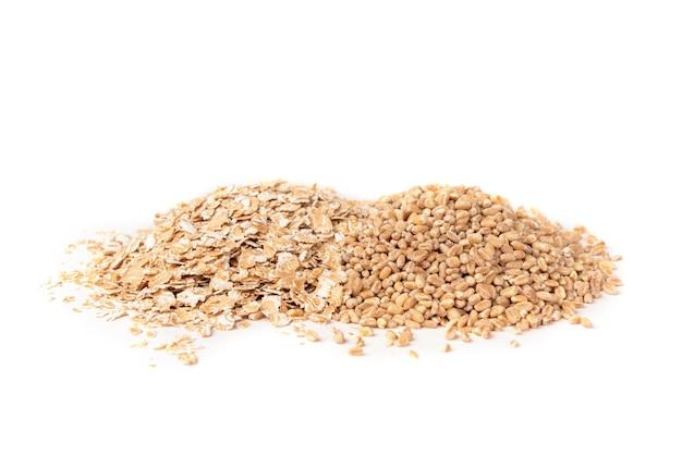 分離された小麦フレーク。