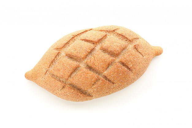Wheat bread isolated top view. bakery products
