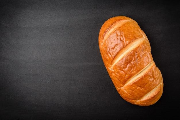 小麦パンの上面図