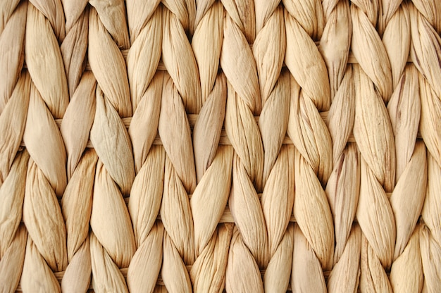 Wheat spikes weaving rustic texture