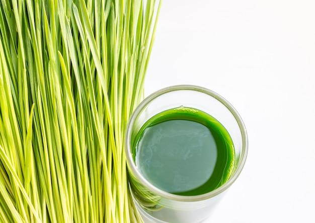 Wheatgrass juice.