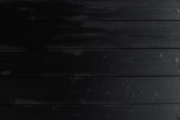 古い黒い色のチーク木の壁のテクスチャの背景wheathered