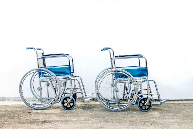 Wheel chairs standby for help a old people or health care