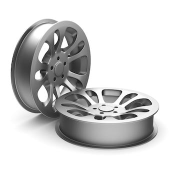 Обод колеса на белой предпосылке. изолированная 3-я иллюстрация