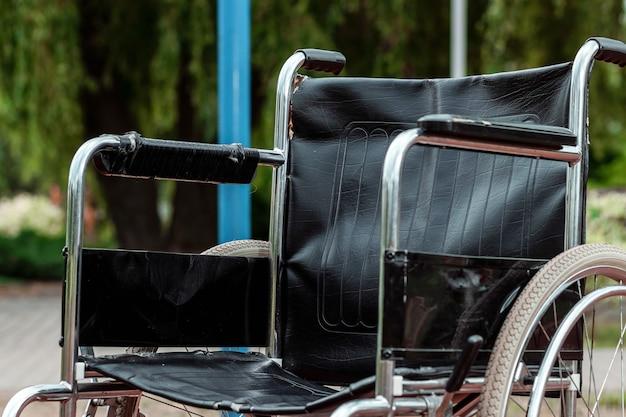 Wheelchair on the basketball court. rehabilitation, parkinson, disabled person, paralyzed.
