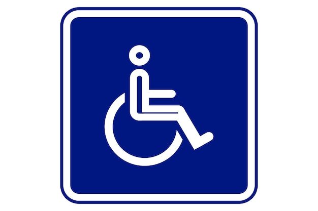 Wheelchair, handicapped access sign or symbol flat icon for websites and print