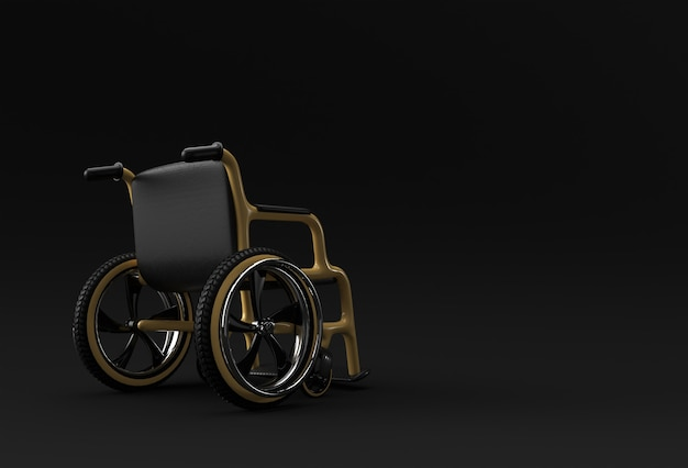 Wheelchair isolated. 3d rendering illustration.