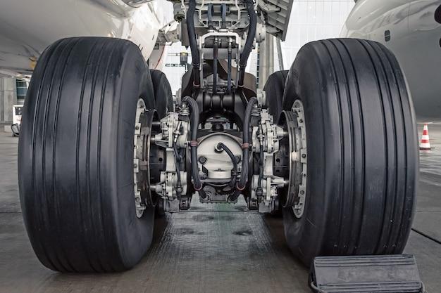 Wheels rubber tire rear landing gear racks.