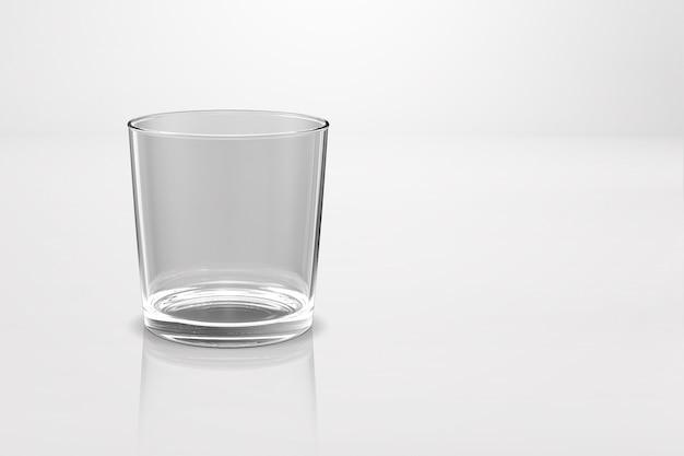 白の3dレンダリングで分離されたウイスキーガラススコッチバーボンクリエイティブ