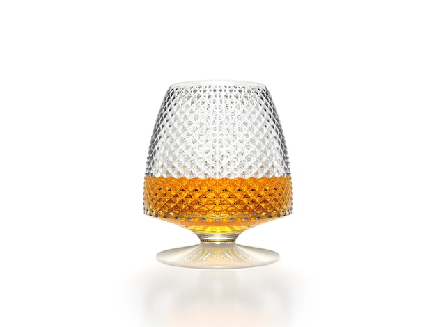 Whiskey glass scotch bourbon creative isolated on white background