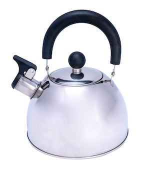 Whistling kettle isolated on white background,