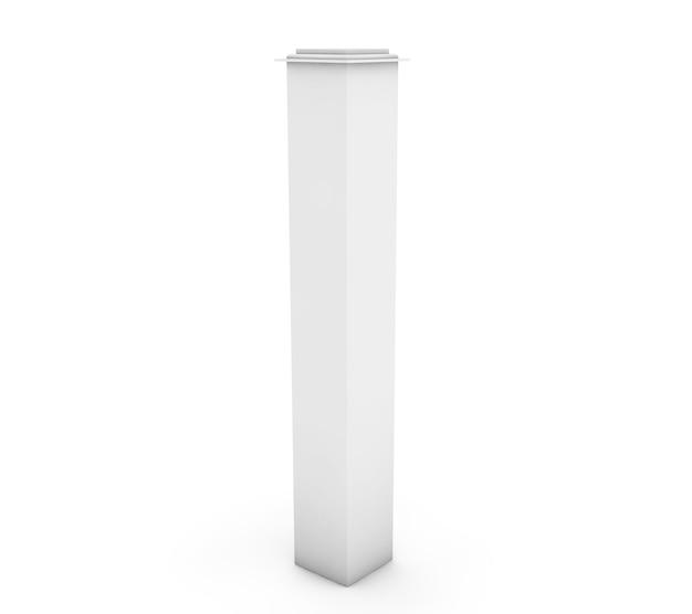 白い背景の上の白い3d列