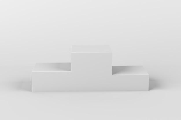 Белый 3d геометрический студийный подиум