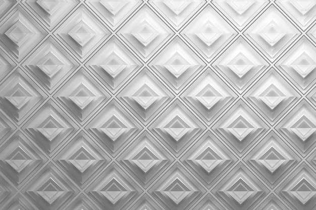 White 3d pattern with rhombuses