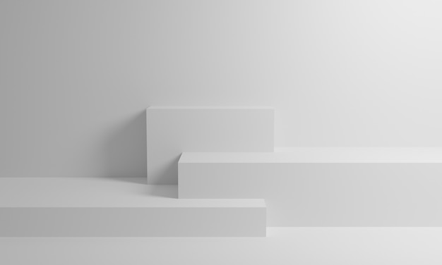 Белый 3d рендеринг фон стены, может быть использован для баннера дизайн элементов отображения фона