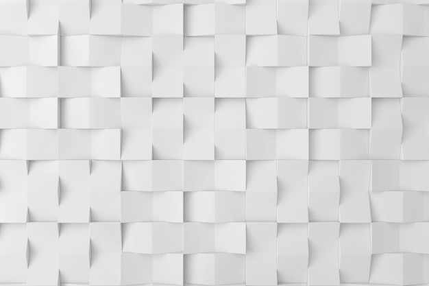 White 3d wall for background