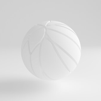 흰색 추상적 인 배경입니다. 3d 그림, 3d 렌더링입니다.