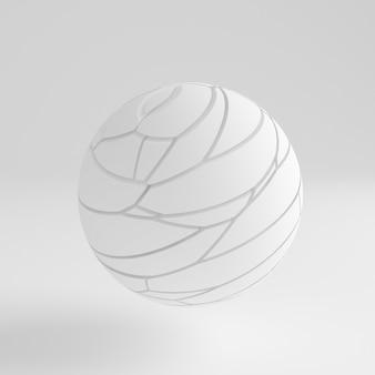 白い抽象的な背景3dイラスト