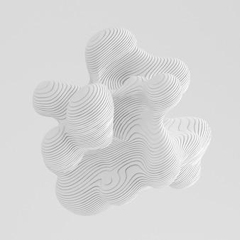 Белый абстрактный фон 3d иллюстрация