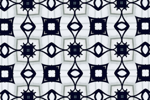 White abstract background pattern textured, lines and symmetrical shapes