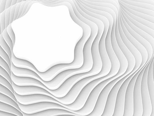 形の白い抽象的な背景