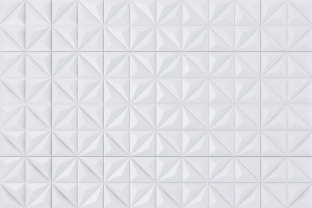 흰색 추상적인 기하학적 다각형 피라미드 벽 패널 세그먼트 배경 극단적인 근접 촬영입니다. 3d 렌더링