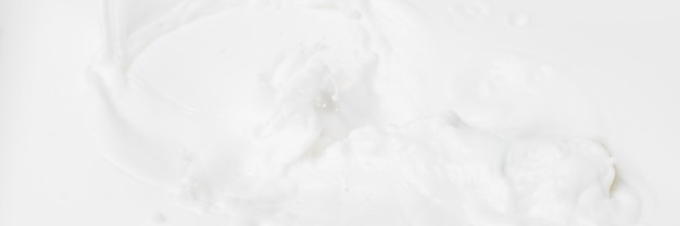 White abstract liquid background for cosmetics.