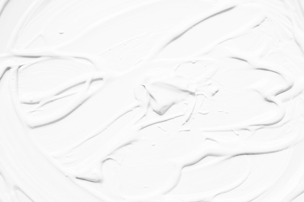 White abstract paint in strokes
