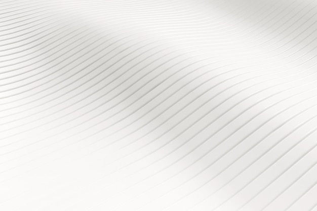 White abstract slice wave pattern background