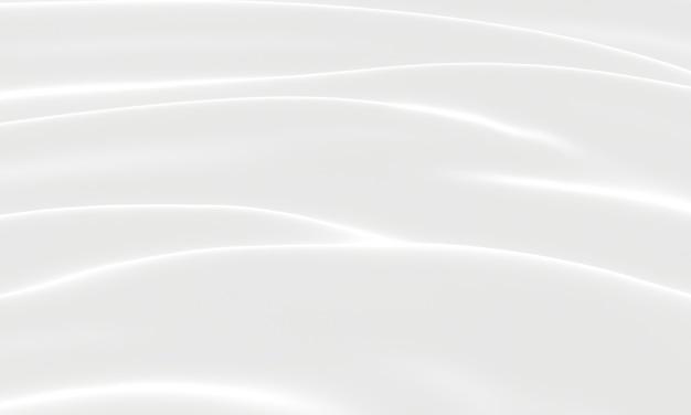 Белый абстрактный фон волны. рифленая ткань.