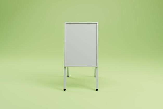 ホワイト広告スタンド