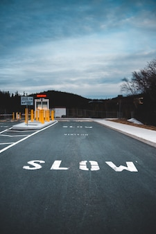 Бело-черная пешеходная линия