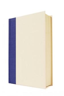 흰색과 파란색 하드백 책
