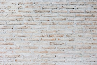 White and brown brick wall background, Background of old vintage wall with peeling plaster