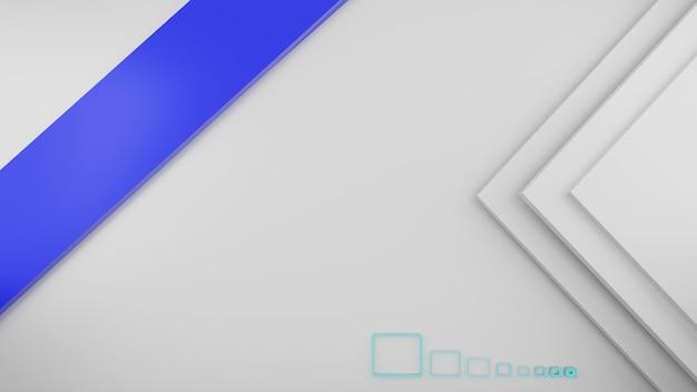 흰색과 진한 파란색 추상적 인 배경 3d 렌더링