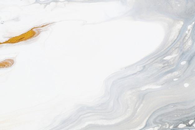 흰색과 금색 액체 대리석 배경 diy 럭셔리 흐르는 질감 실험 예술