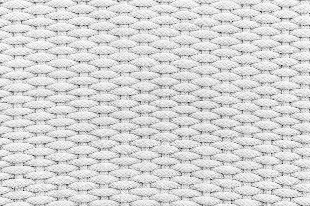 ロープのテクスチャと背景の表面の白とグレーの色