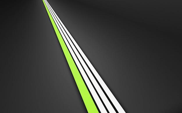 회색에 흰색과 녹색 직선 줄무늬