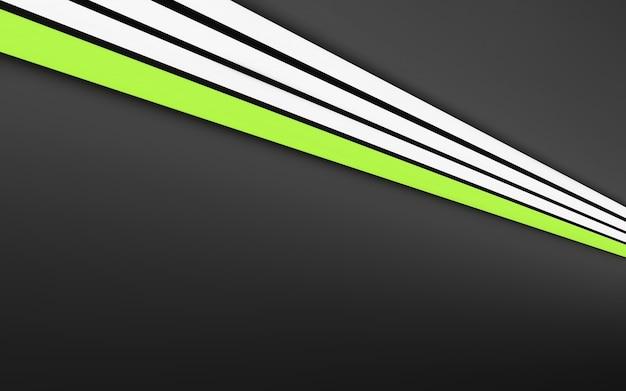 グレーに白と緑のストレートストライプ